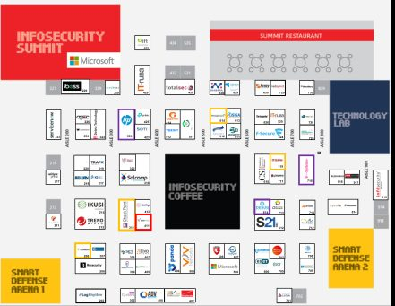 Mapa Infosecurity 2019